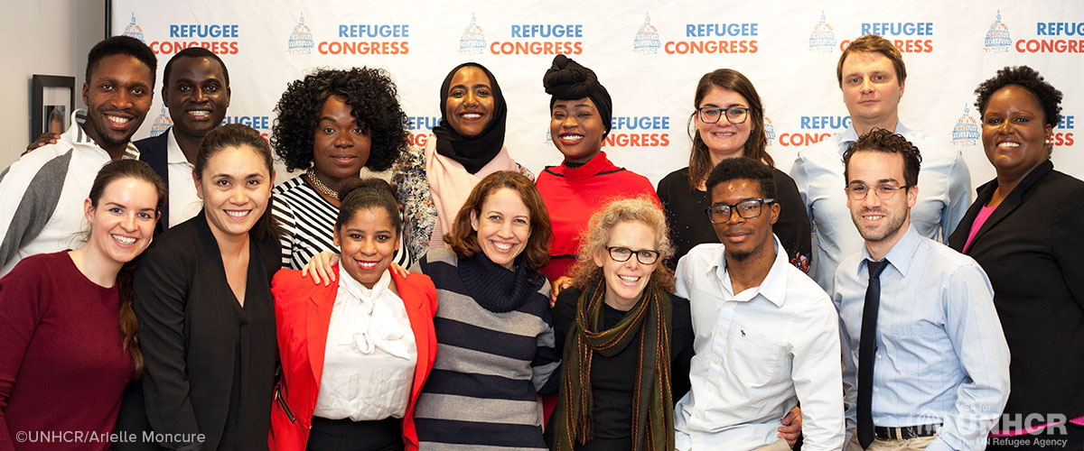 Refugee advocates gather in Washington DC for media training.