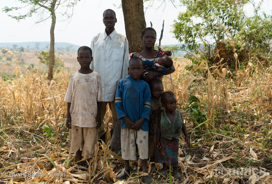 Mambo, Roseline and their four children, Congolese refugees in Uganda