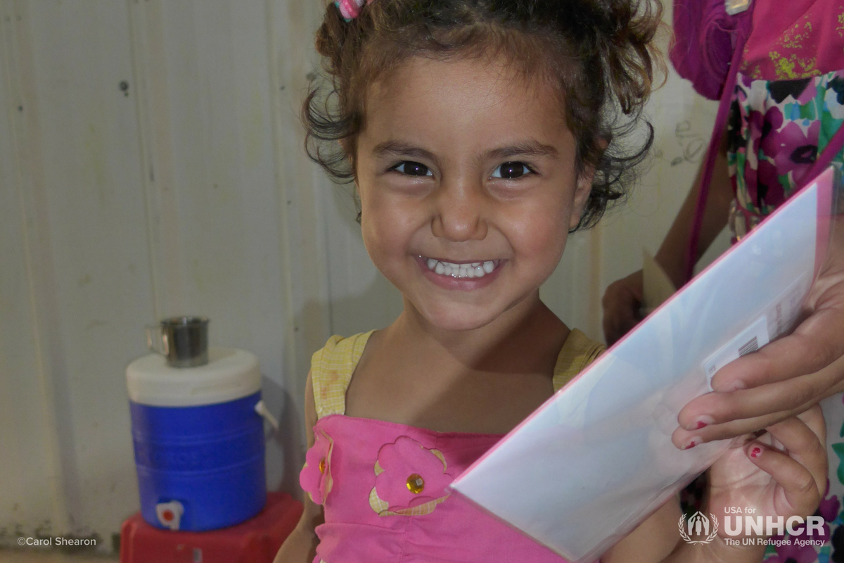 Smiling girl from Carol Shearon's mission trip to Jordan