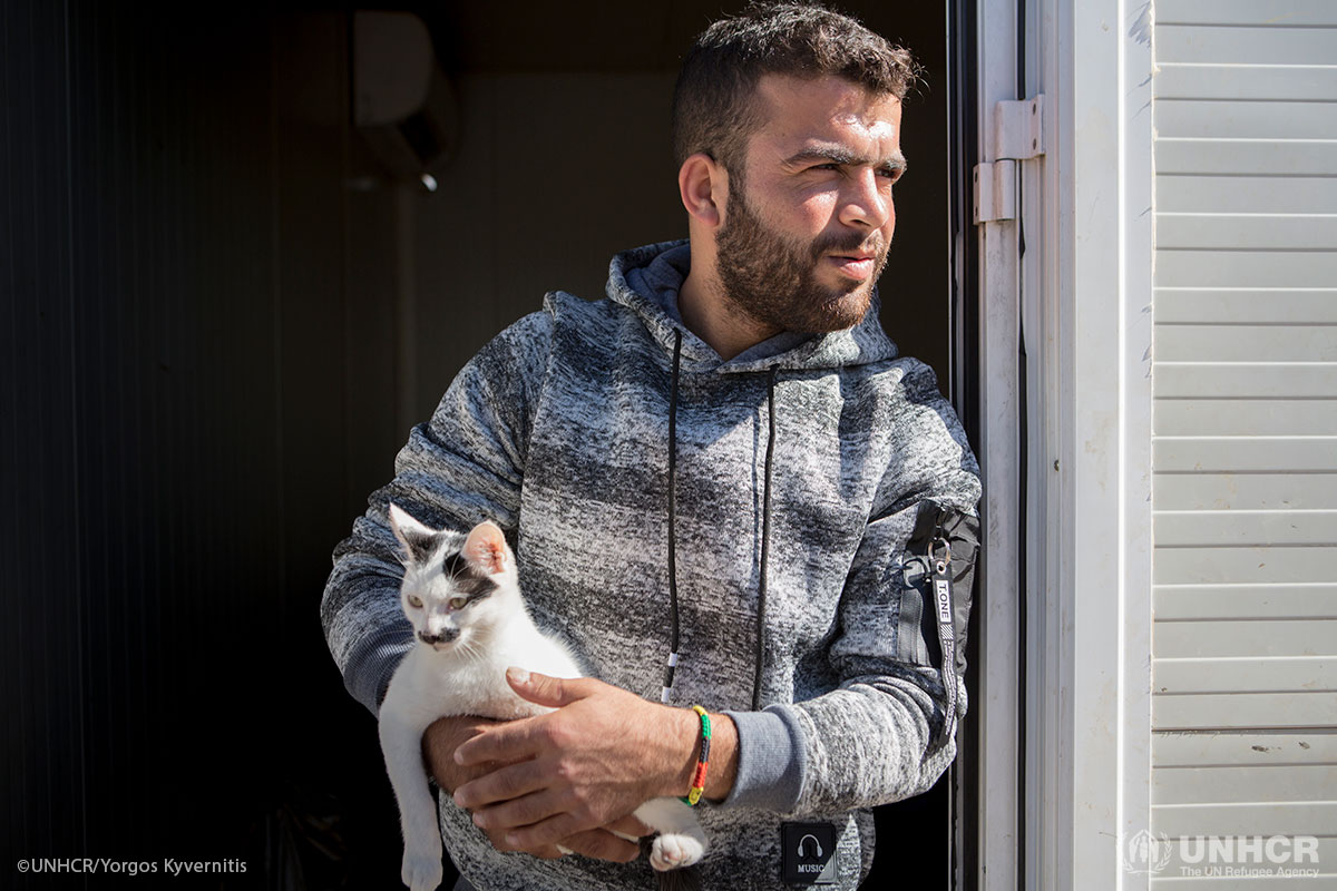 Bassar and his cat