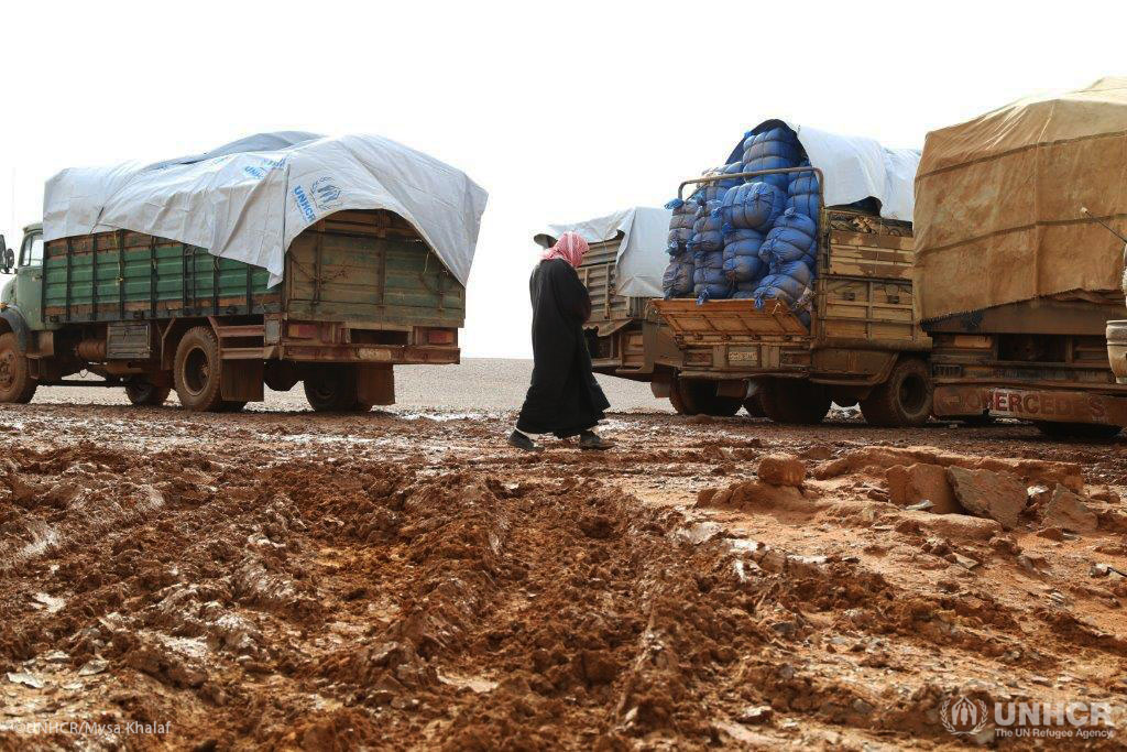 118 trucks delivered life-saving assistance to over 40,000 people in Rukban makeshift settlement.