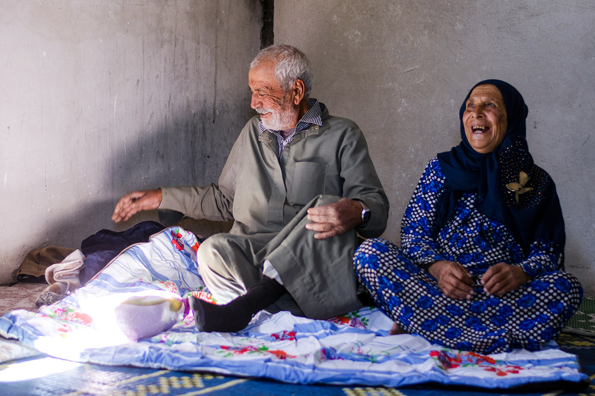 Syrian refugee Al Hmeiady, 73, and his wife returned to eastern Aleppo two years after they were forced to flee.