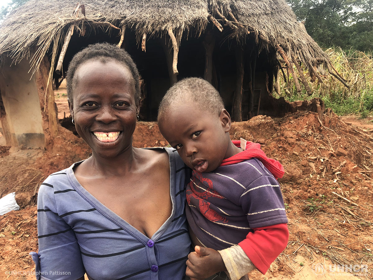 Esther Sithole and her child are alive -- but Cyclone Idai in March destroyed their home.