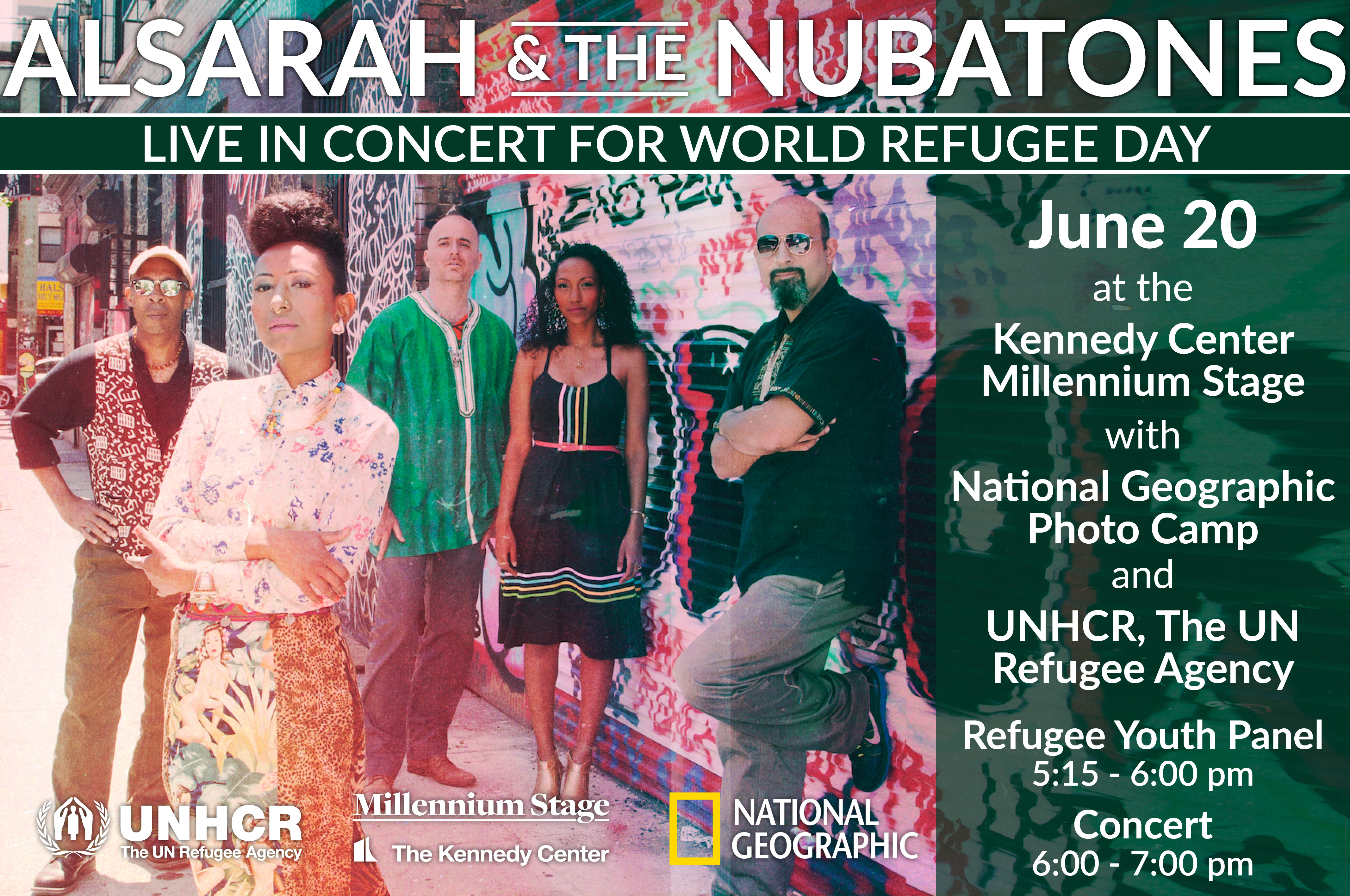 kennedy center event graphic for world refugee day 2019