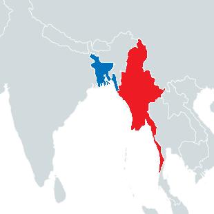 map of bangladesh and myanmar