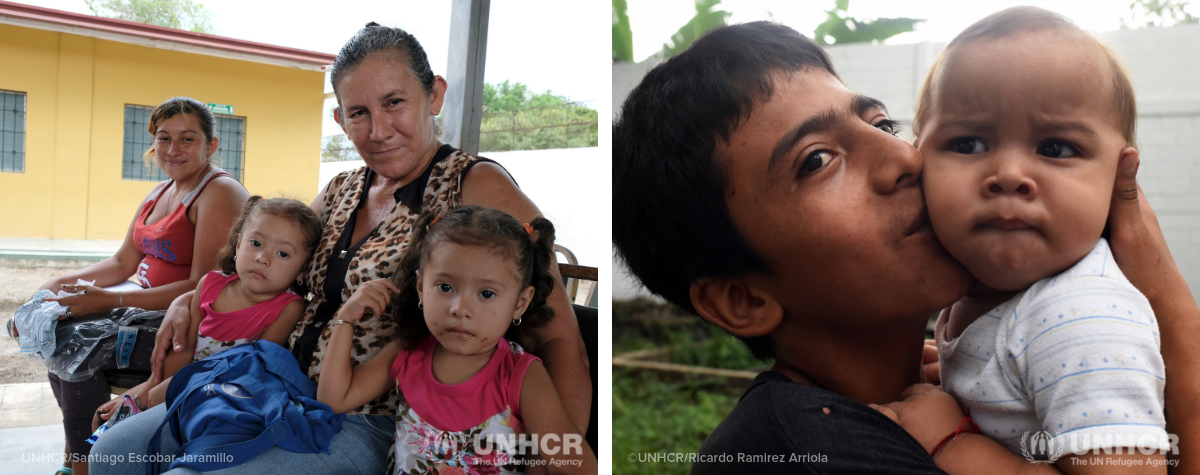 Refugee from Central America, women and children