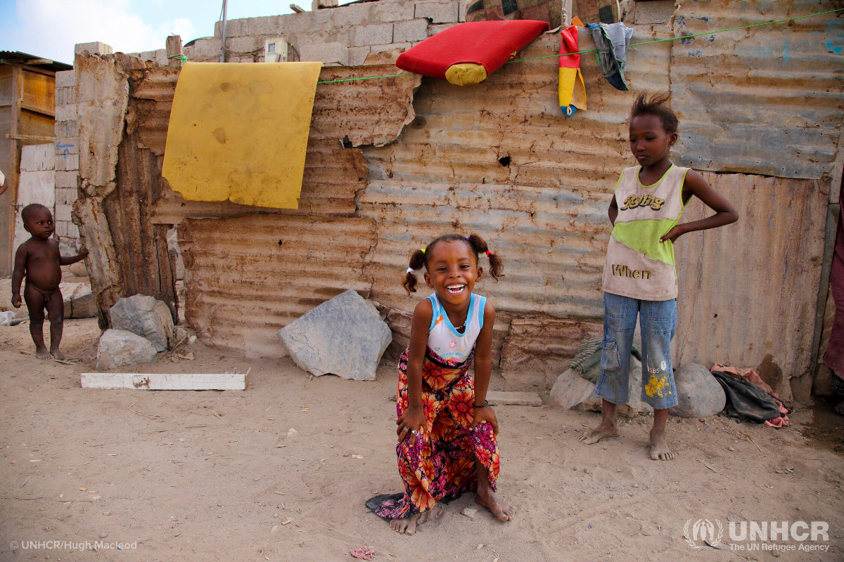 Somali girl in refugee camp